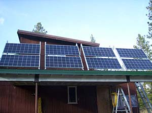 Keeping the shop warm with solar power