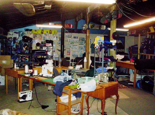 Inside the Boardwarm Shop where all the gear is built. This building is not in China.