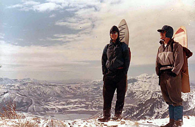 Ronnie Orten & best friend DP. Early 80s Utah Backhill before lifts